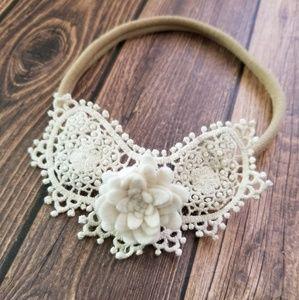 Crochet and Felt Flower Headband